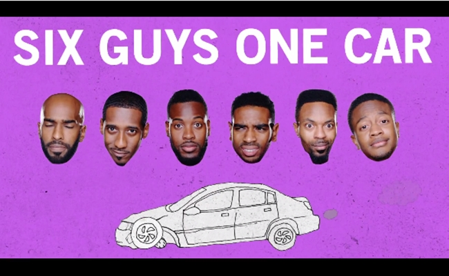 six-guys-one-car-dormtainment