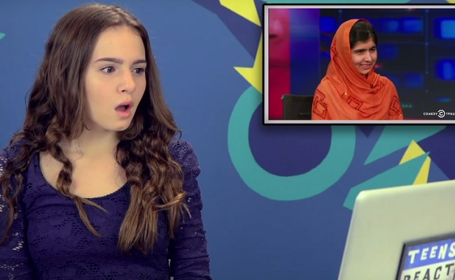 Teens Discuss Nobel Winner Malala Yousafzai In Latest Fine Bros. React Video by Bree Brouwer of Tubefilte