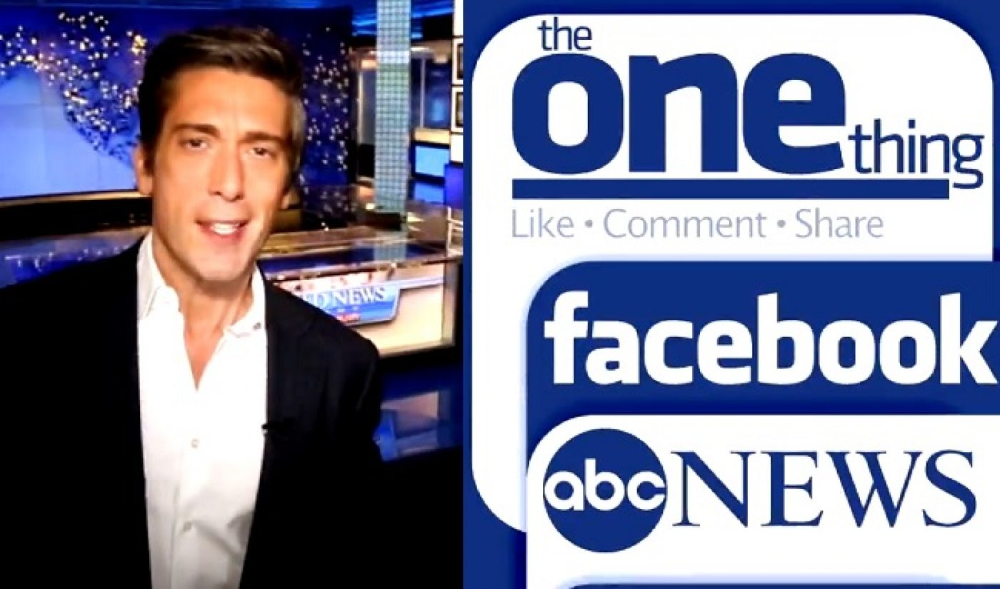 ABC News Launches 'The One Thing' One-Minute Newscast On Facebook