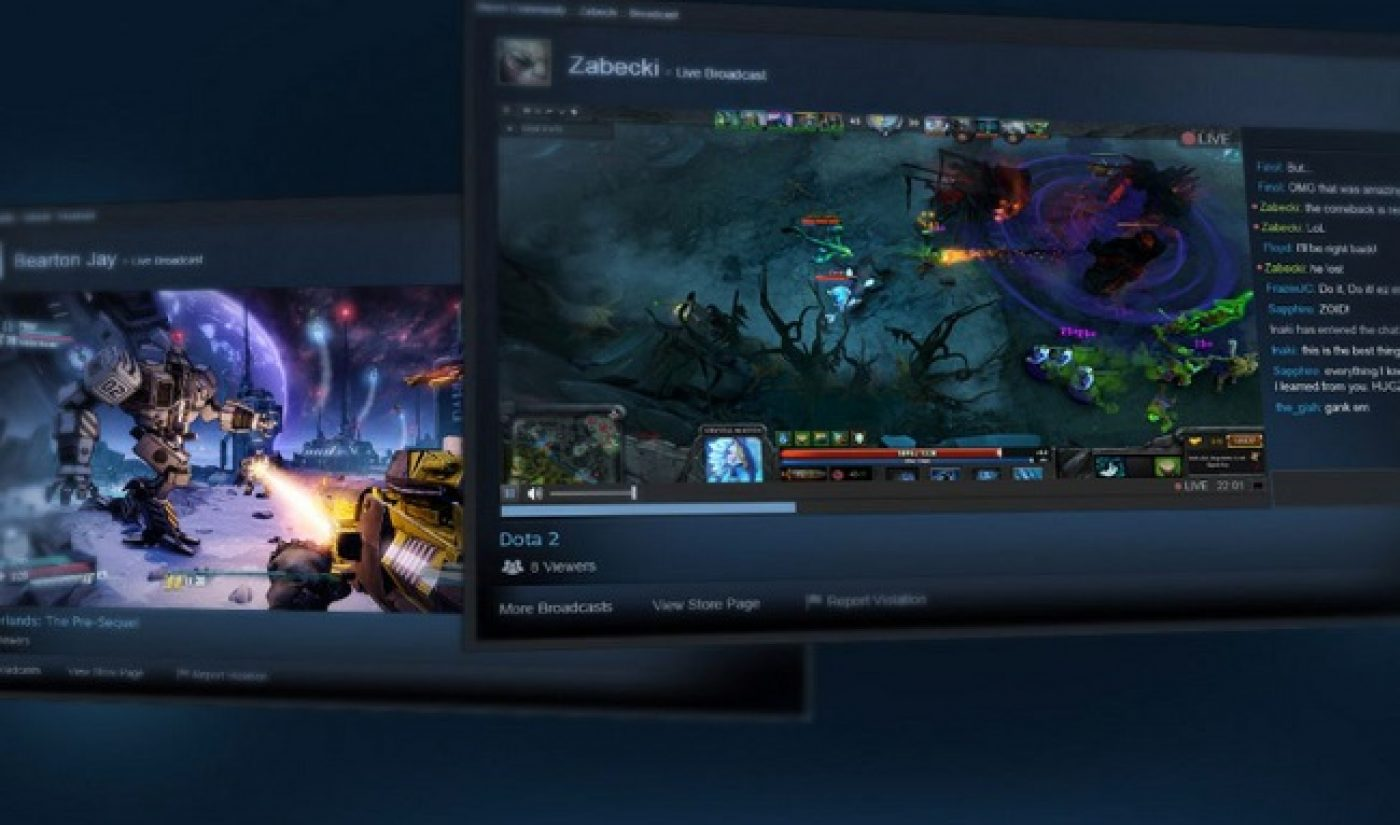 Steam Set To Take On Twitch With Live Streaming Feature For Gamers
