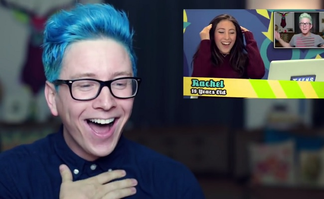 Tyler Oakley Goes Meta, Watches Teens React To His Videos