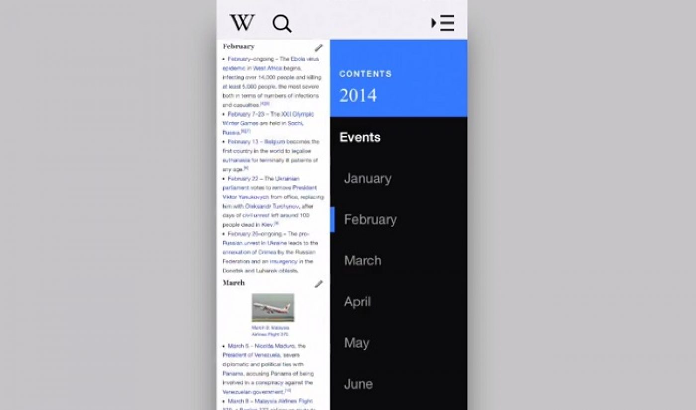 """Wikipedia Creates Its Own """"Year In Review"""" Video For 2014"""