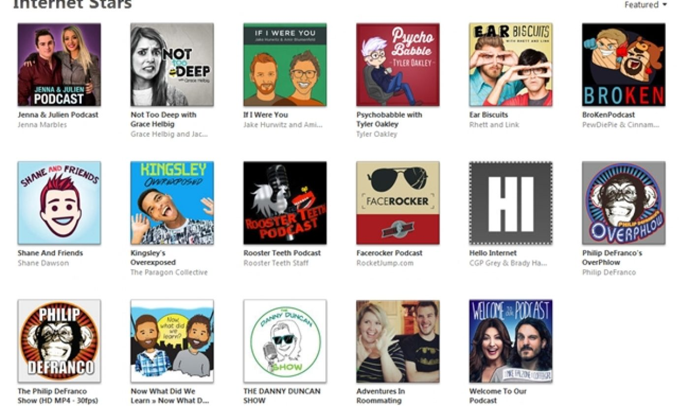 iTunes Has A Special Page For Podcasts Hosted By YouTubers