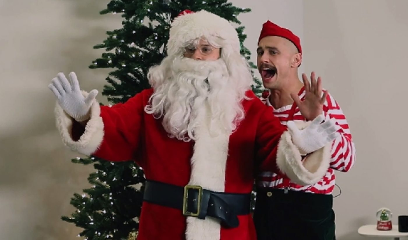 Seth Rogen, James Franco Collab With Superwoman To Ruin Christmas