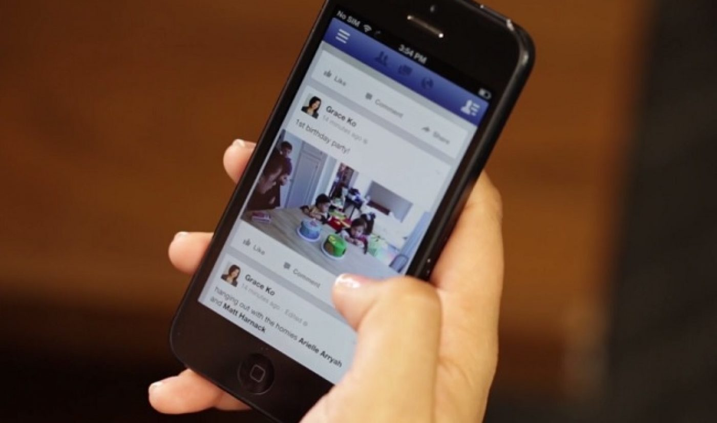 Facebook Hits 3 Billion Daily Native Video Views, 65% Are From Mobile