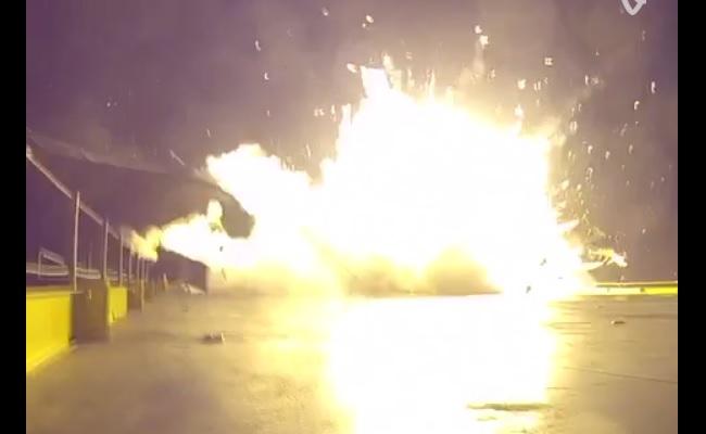 SpaceX-Falcon-9-Crash-Landing-Vine