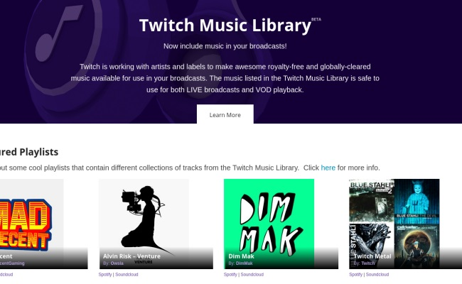 Twitch-Music-Library-Music-Category