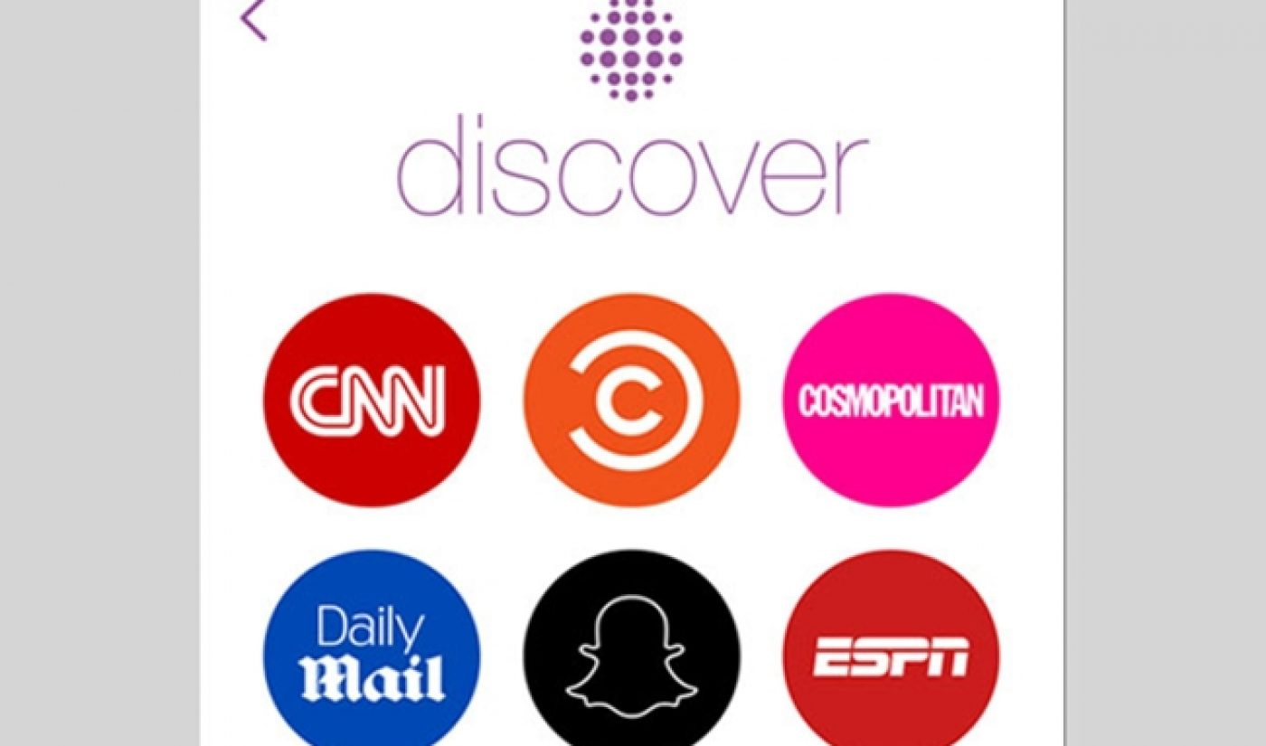 Discover, Snapchat's Branded Content Initiative, Has Arrived
