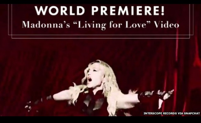Madonna-Living-For-Love-Snapchat