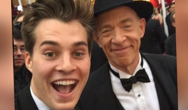 Vine Star Marcus Johns Hangs With Clint Eastwood, J.K. Simmons, Others At Oscars
