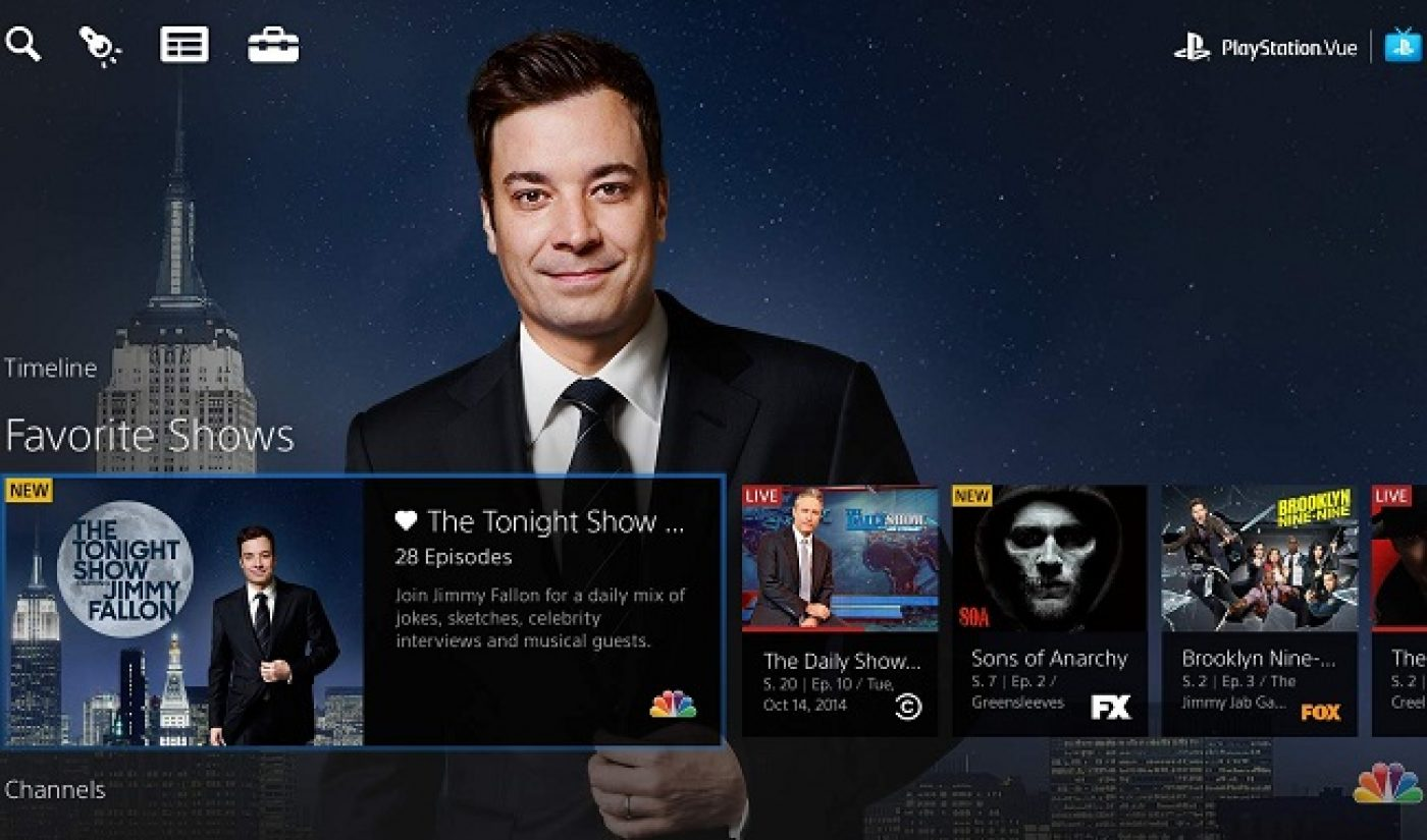 Sony Introduces PlayStation Vue Streaming TV Service In Three U.S. Cities