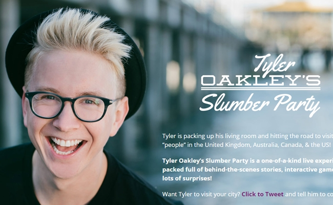Tyler oakley announces dates for international slumber party tour tyler oakley announces dates for international slumber party tour m4hsunfo