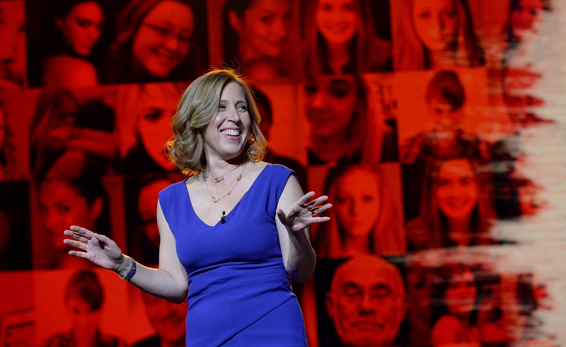 NEW YORK, NY - APRIL 29:  CEO of Youtube Susan Wojcicki speaks at YouTube #Brandcast presented by Google at The Theater at Madison Square Garden on April 29, 2015 in New York City.  (Photo by Stephen Lovekin/FilmMagic for YouTube)