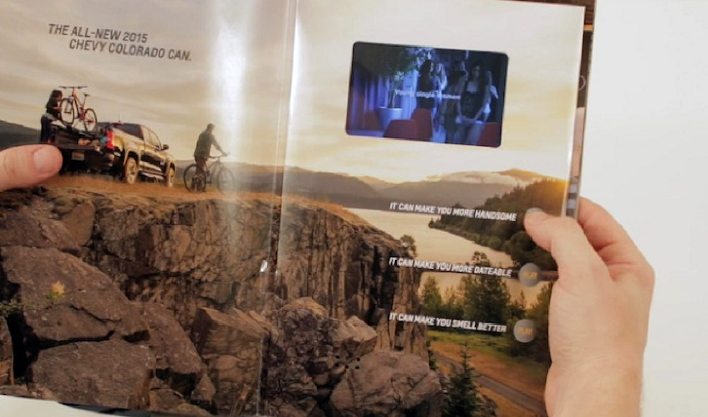 Chevrolet Runs Video Ads In Print Versions Of Magazines. Seriously.