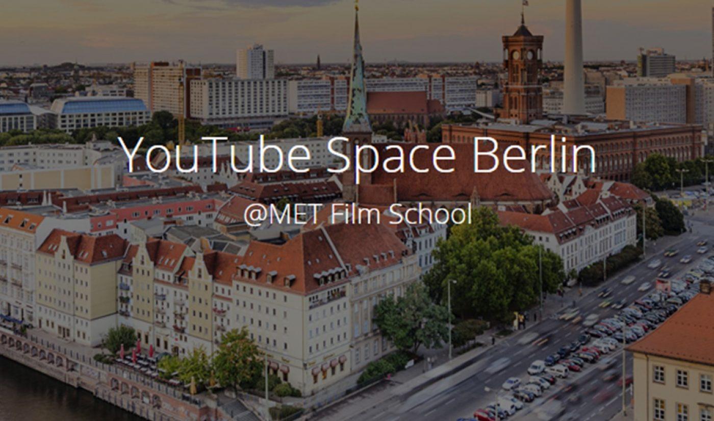 YouTube's Sixth Creator Space To Open In Berlin