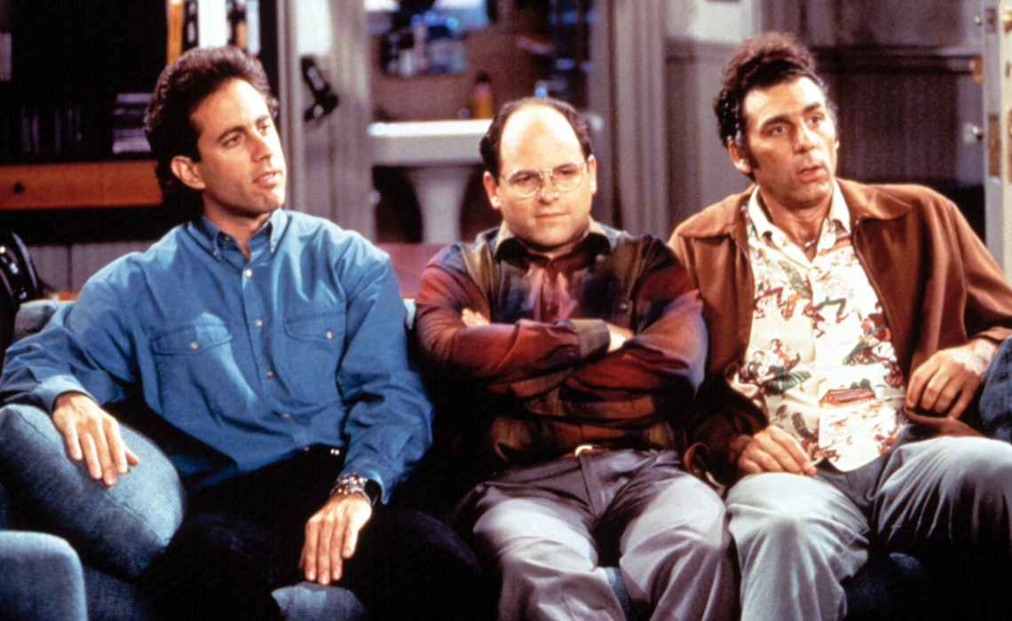 SEINFELD, Jerry Seinfeld, Jason Alexander, Michael Richards, 1990-98, (c)Castle Rock Entertainment/courtesy Everett Collection