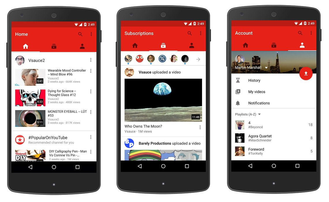 YouTube Unveils New Mobile App Design With Emphasis On User ...