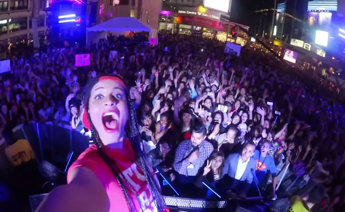 Lilly Singh at her concert in California, Image Source: Tube Filter