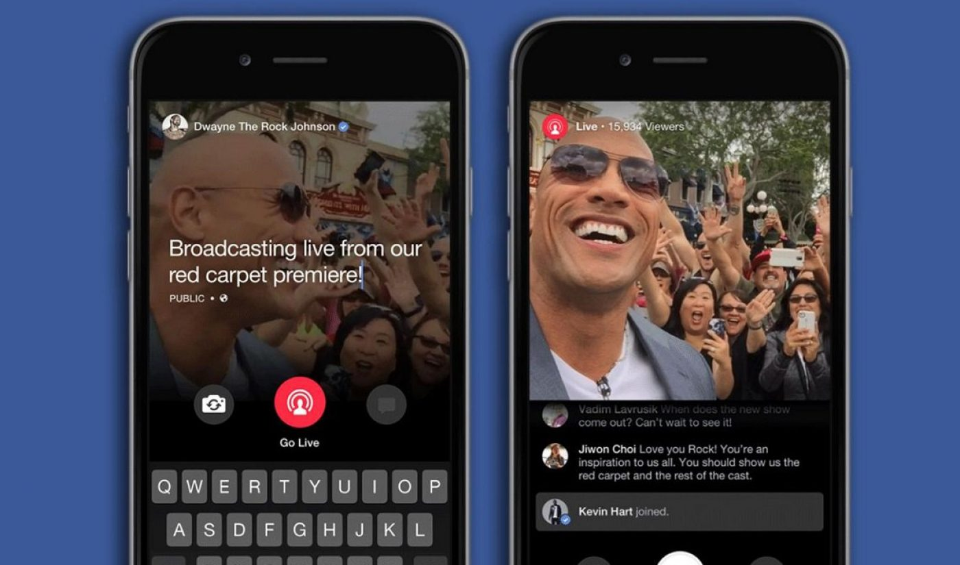 Facebook Will Let Verified Accounts Access Live Streaming Feature