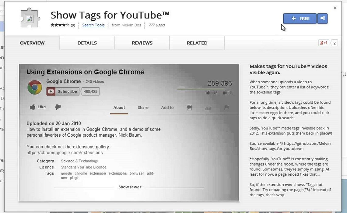 This Browser Extension Shows YouTube's Hidden Video Tags