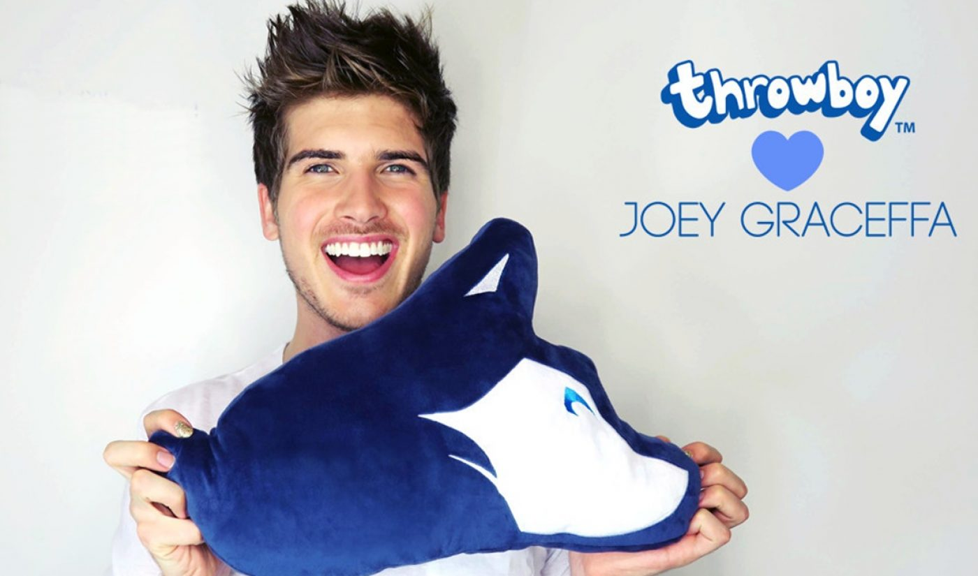 Throwboy Launches Line Of Throw Pillows Branded Around YouTube Stars