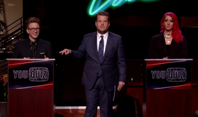 Here Are Some Clips From The YouTube Episode Of 'The Late Late Show'