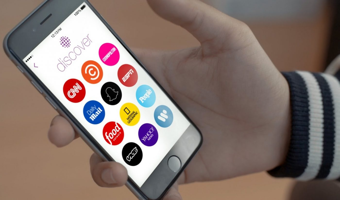 Snapchat Expands Discover Section With Mashable, Tastemade, IGN
