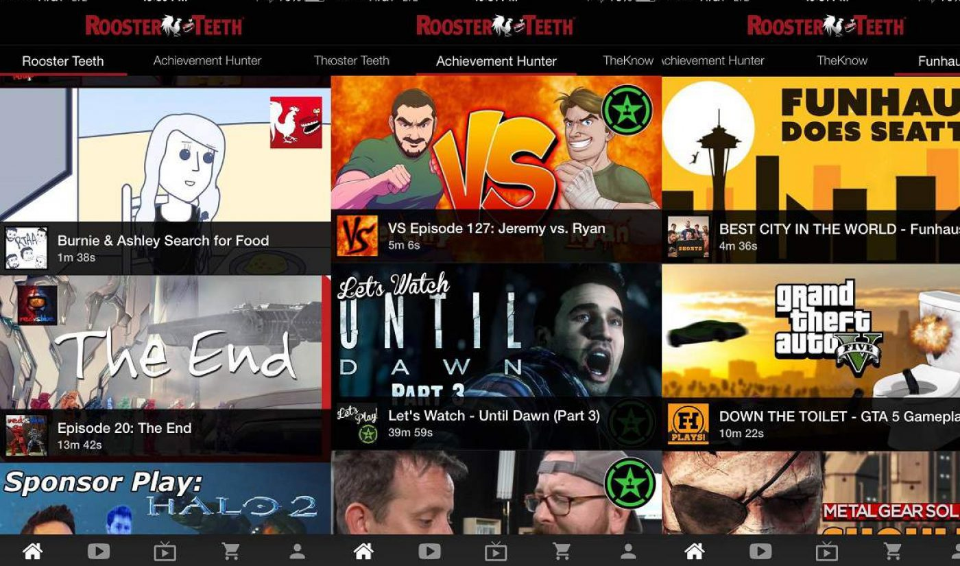 Rooster Teeth Releases New Mobile App With Access To Sponsor-Only Content
