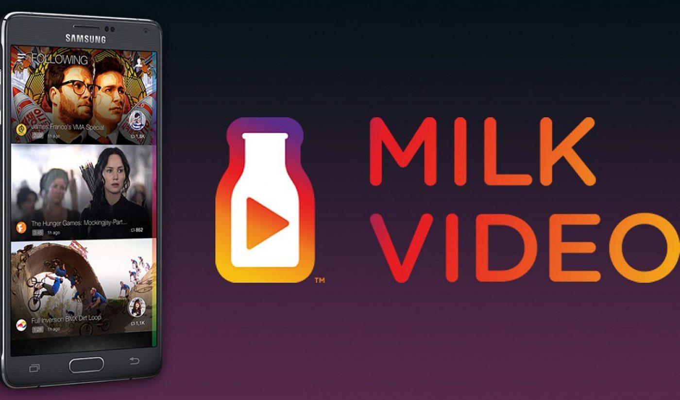 Samsung Shuttering Milk Video Service On November 20