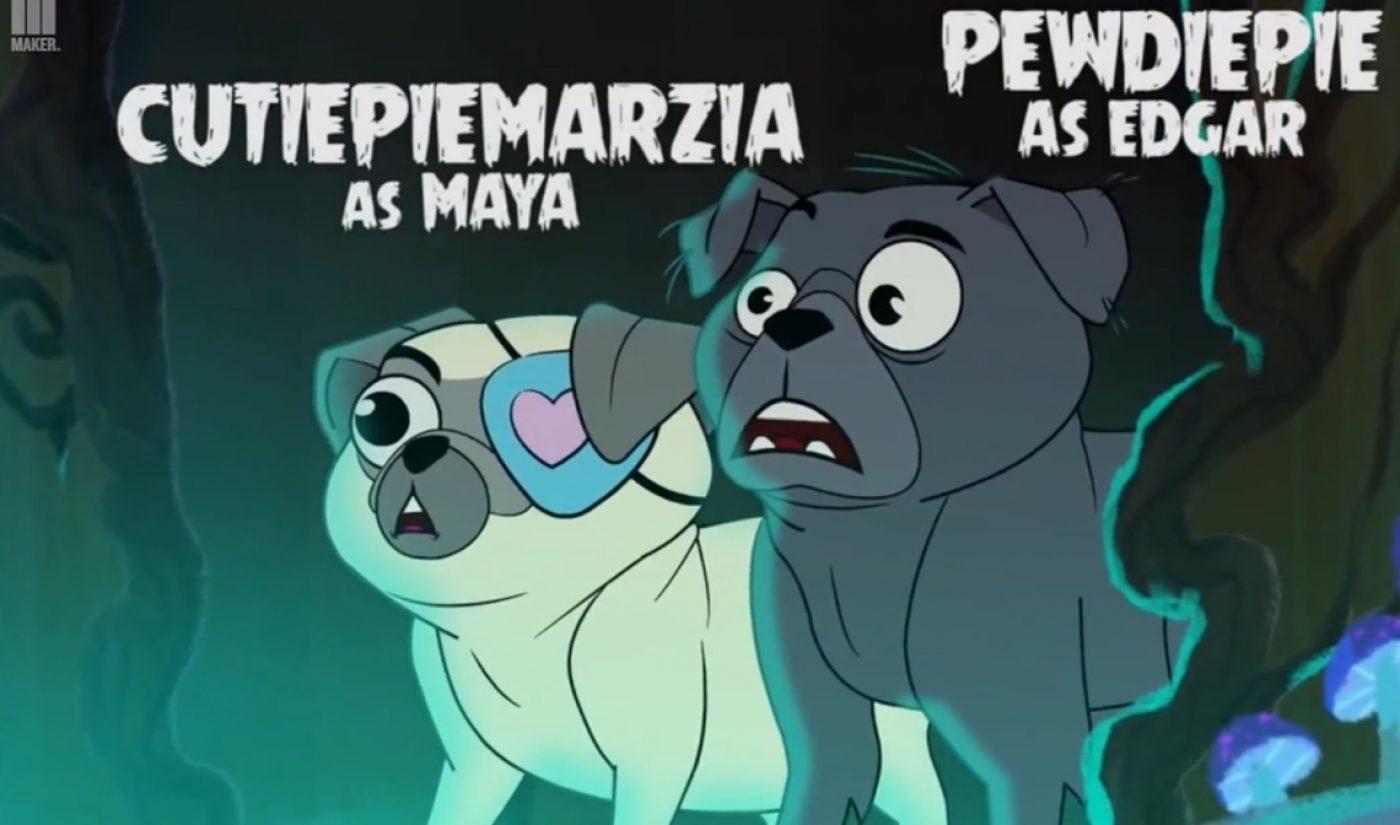 YouTube Stars PewDiePie, CutiePieMarzia Voice Animated Pugs In Halloween Web Series