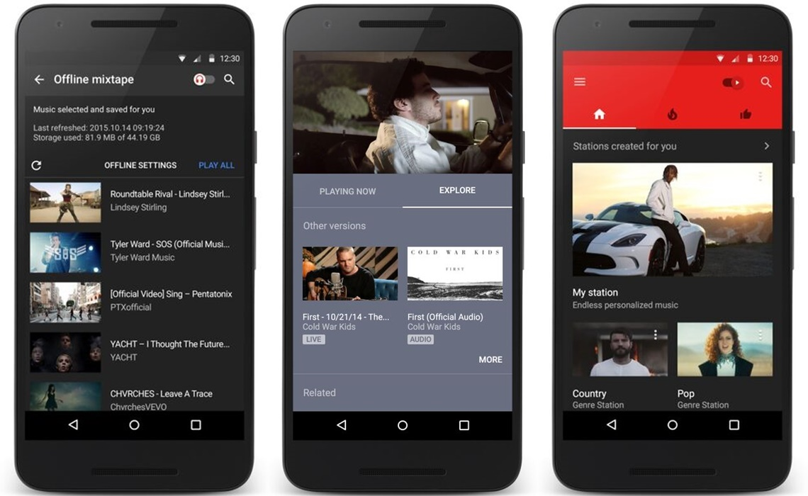 Youtube launches its music app on ios and android stopboris Image collections
