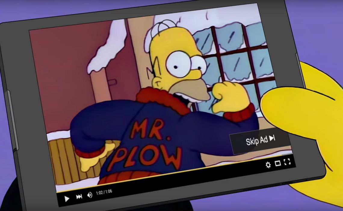 YouTube-Advertising-Mr-Plow-Homer-Simpson