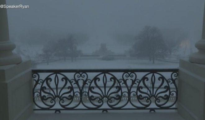 Watch The East Coast Blizzard Courtesy Of House Speaker Paul Ryan's Live Stream