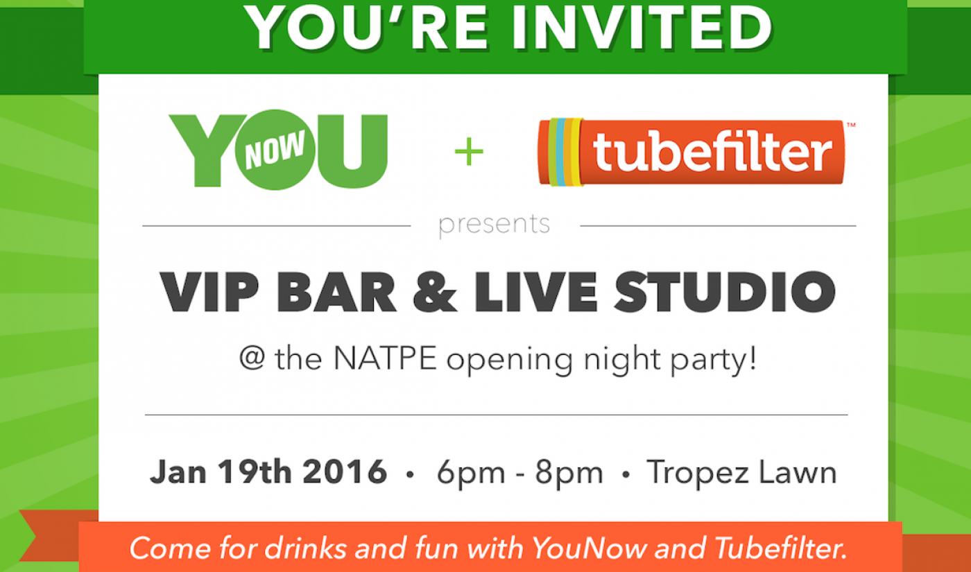 Join Digital Creators At Our VIP Bar And Live Studio At NATPE Miami 2016