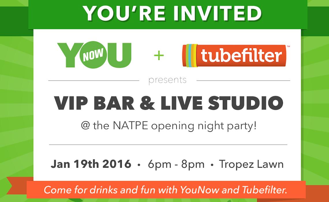 Join Digital Creators At Our Vip Bar And Live Studio At Natpe Miami 2016