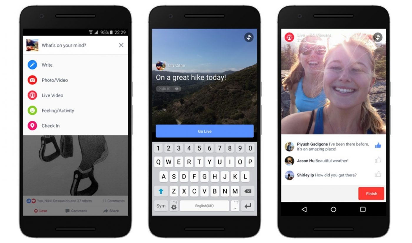 Facebook Is Rolling Out Live Streaming To All Android Devices In The U.S.