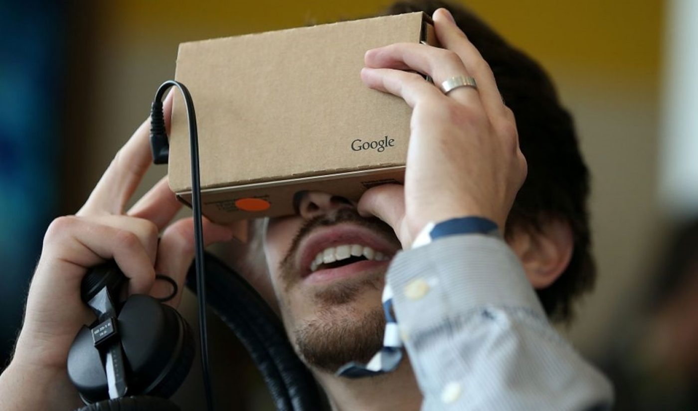Google Readying Next-Generation VR Headset To Succeed 'Cardboard'