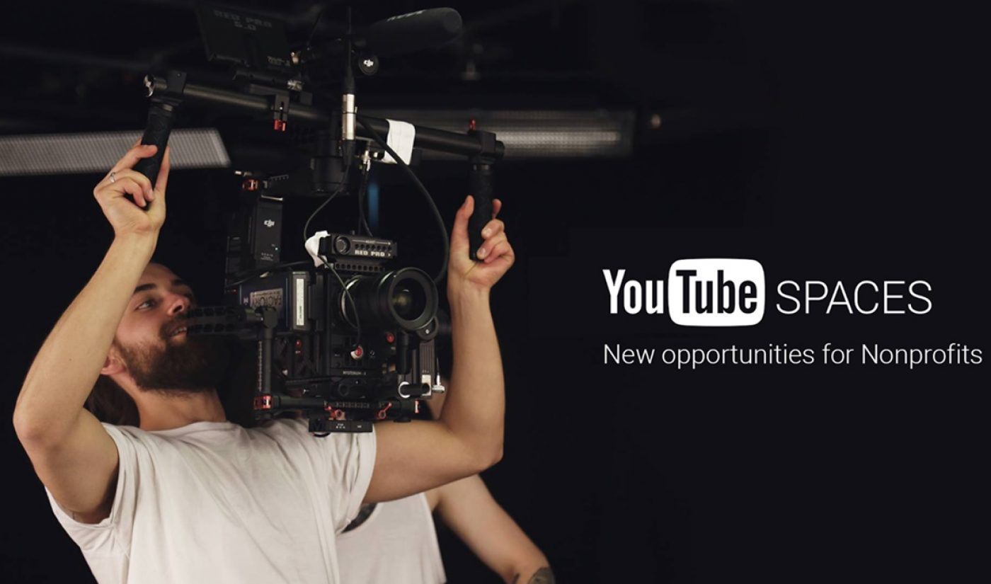 YouTube Offers Nonprofits Its Creator Spaces Free Of Charge