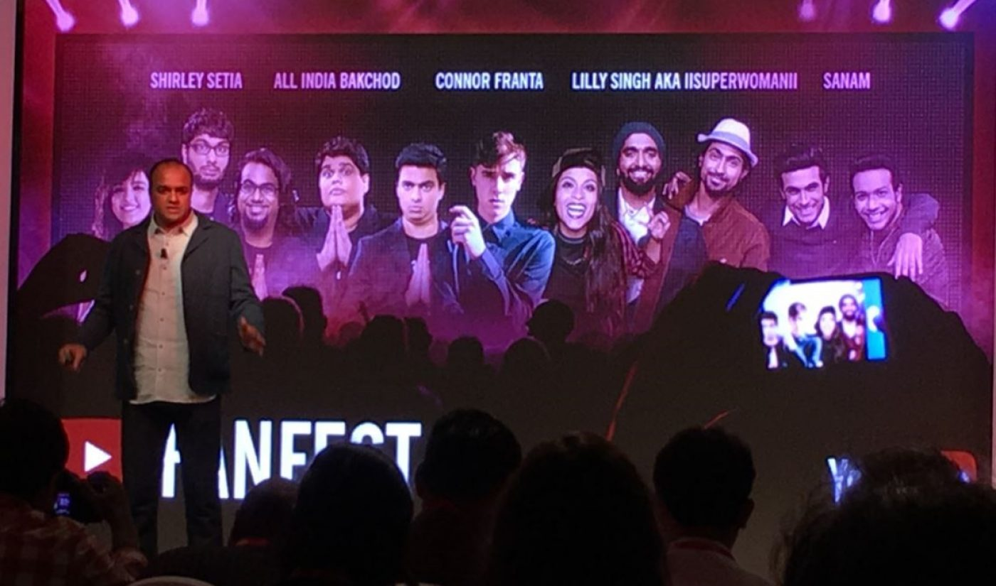 """YouTube Announces """"Breakneck Growth"""" In India, Slate Of New Shows From Local Content Partners"""
