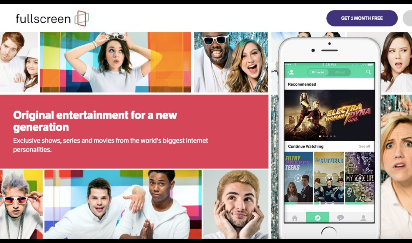 Fullscreen's SVOD Service Is Live And Wants To Be MTV For The Social Generation
