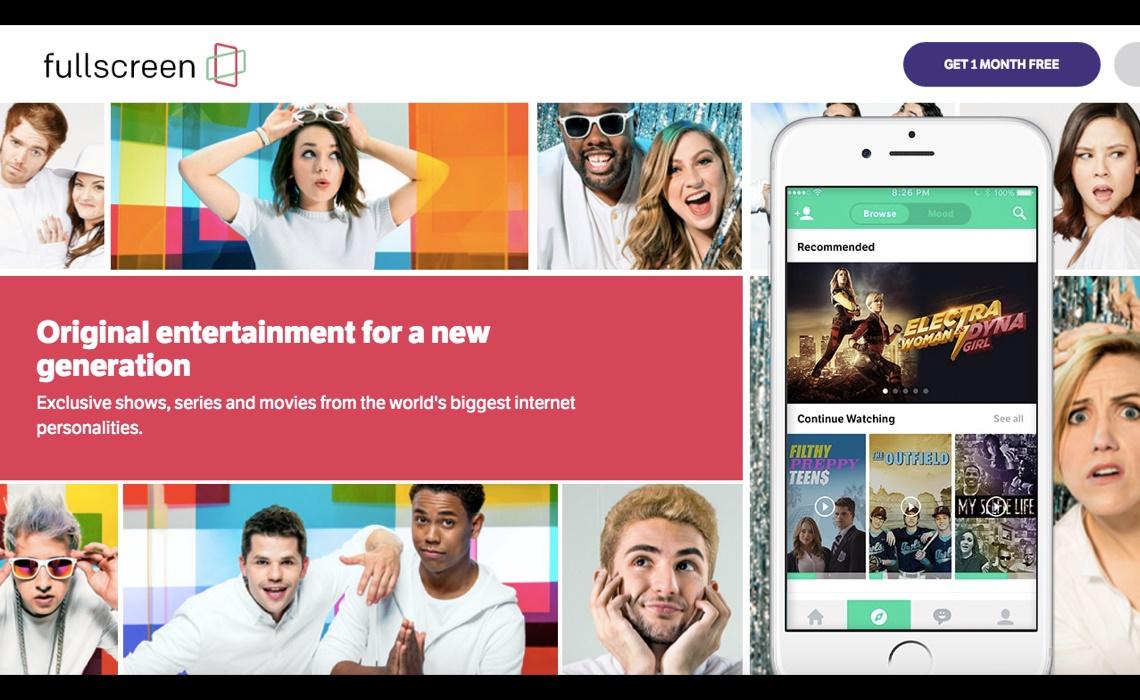 Fullscreen app landing page