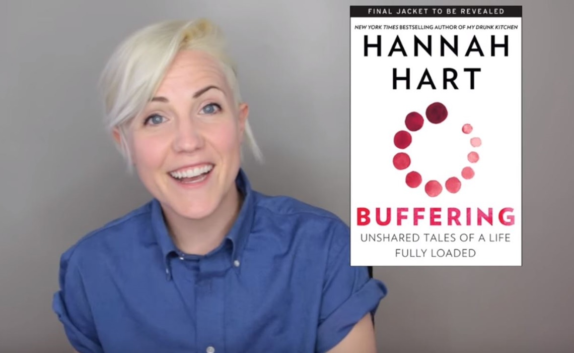 hannah hart unveils second book titled 'buffering', a collection