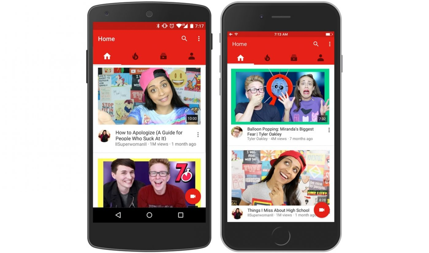 YouTube Redesigns Mobile Homepage With Big Images, Recommendations