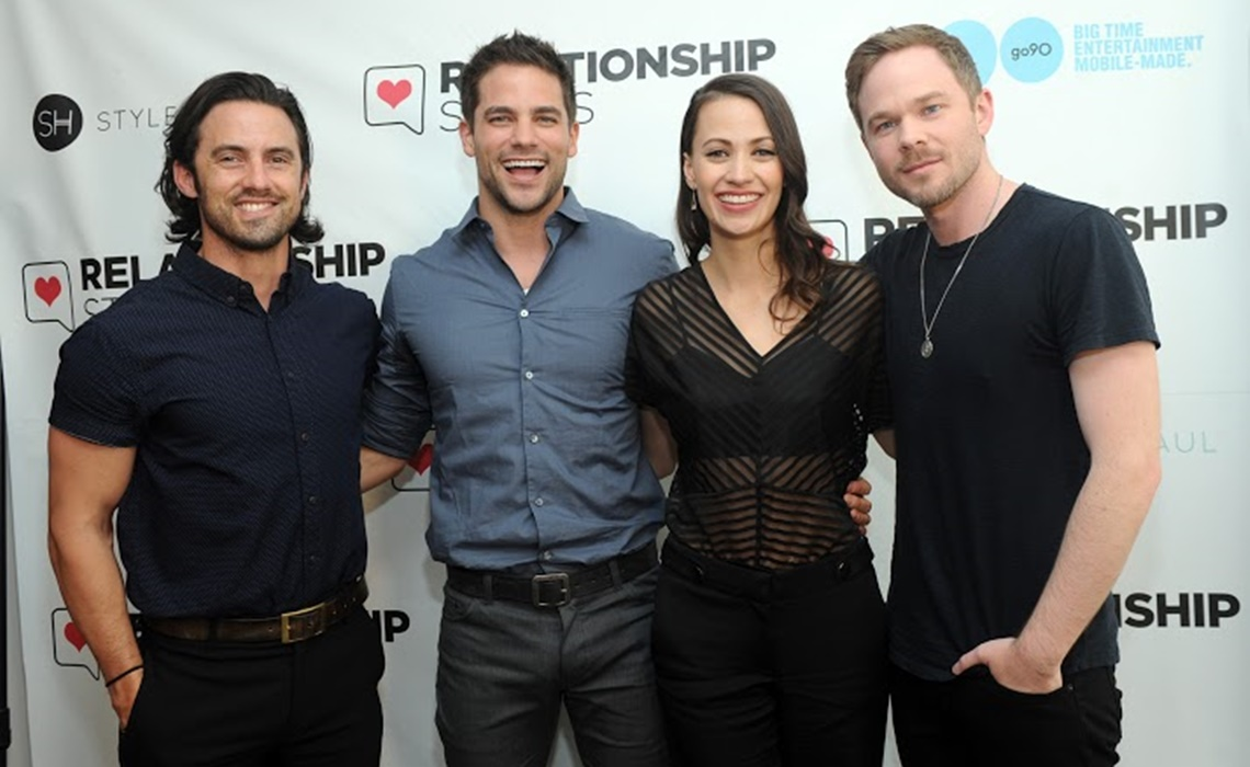Actors Milo Ventimiglia, Brant Daugherty, Kristen Gutoskie and Shawn Ashmore, left to right, join go90 and StyleHaul for a special preview of the new series Relationship Status, Thursday, April 21, 2016, in New York, prior to its official screening at the 2016 Tribeca Film Festival.  (Diane Bondareff/AP Images for go90)