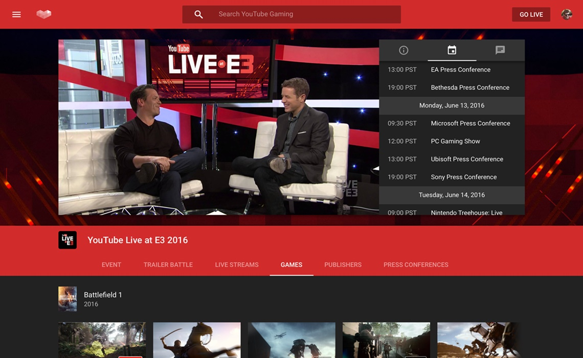 E3 Event Page Blog Mock