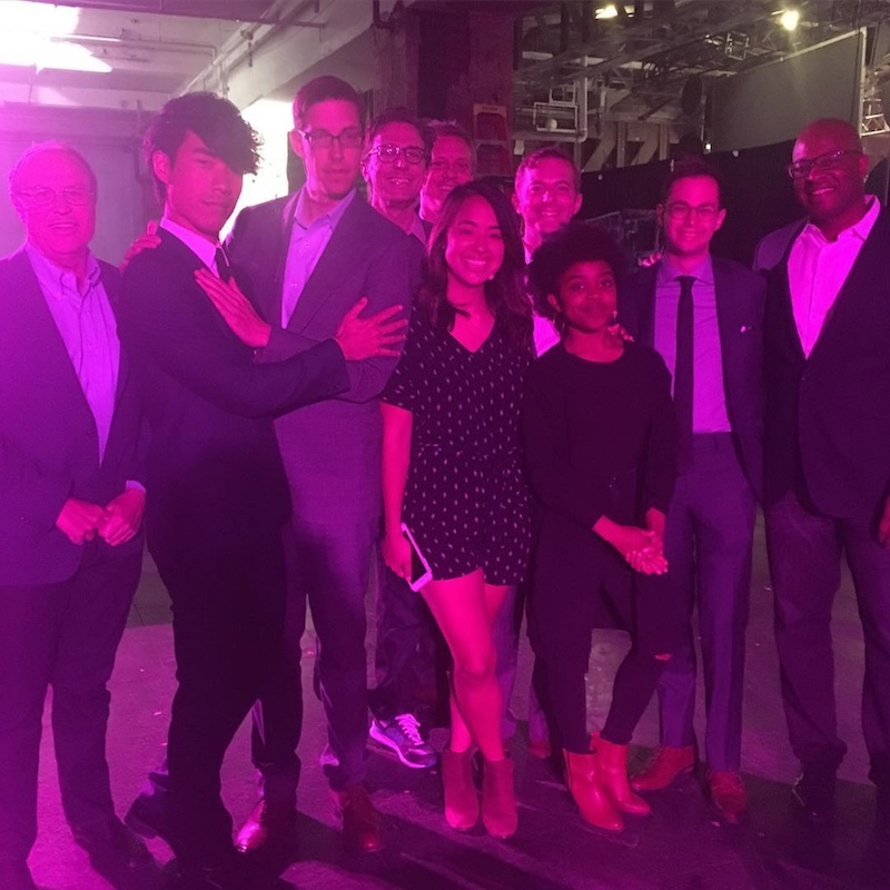 @QuintaB's instagram photo of us all looking fancy AF and posing with BuzzFeed President Greg Coleman and BuzzFeed CMO & CCO Frank Cooper.