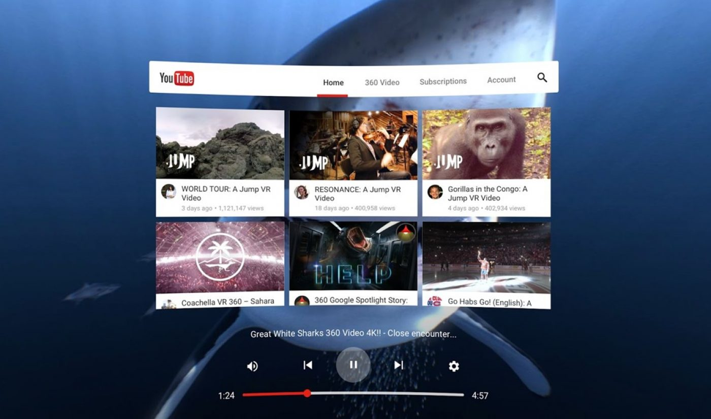 YouTube Working With NBA, BuzzFeed, And Tastemade On Content For VR App Coming Later This Year