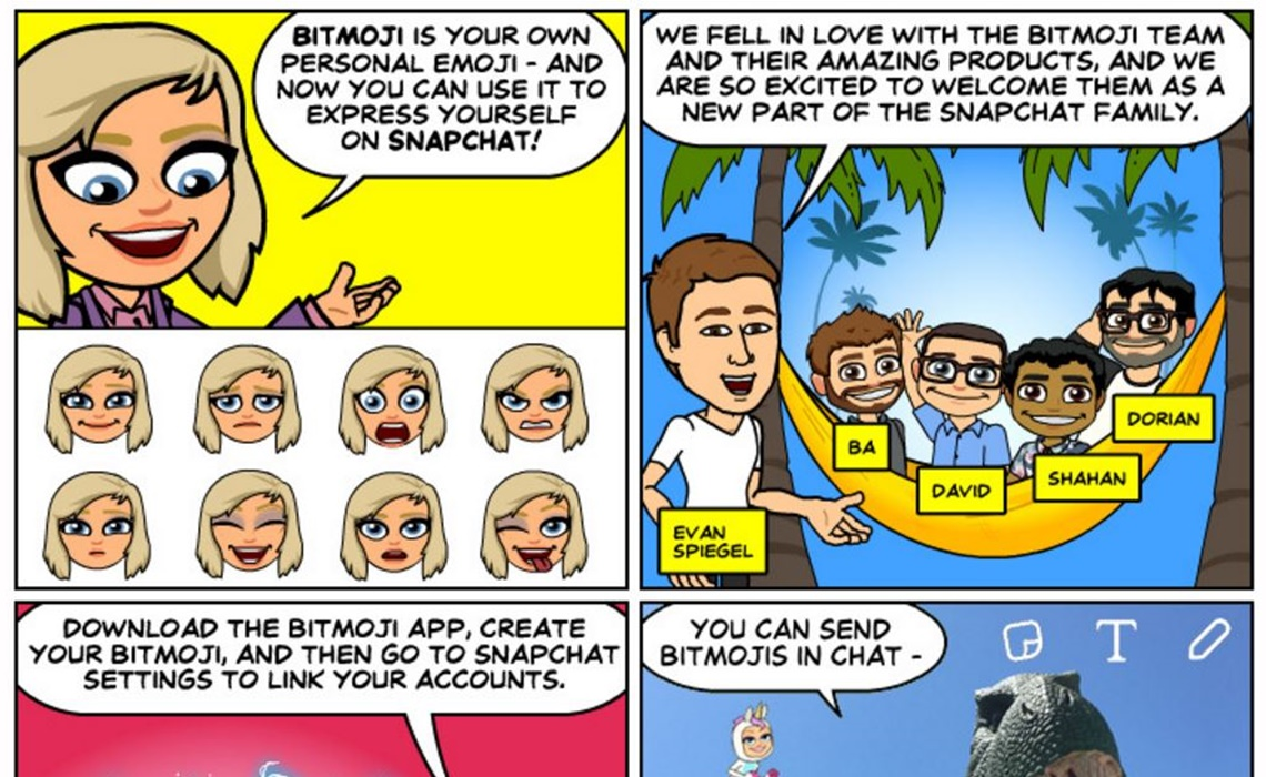Snapchat Integrates Bitmoji Into App, Letting Users Send And Snap