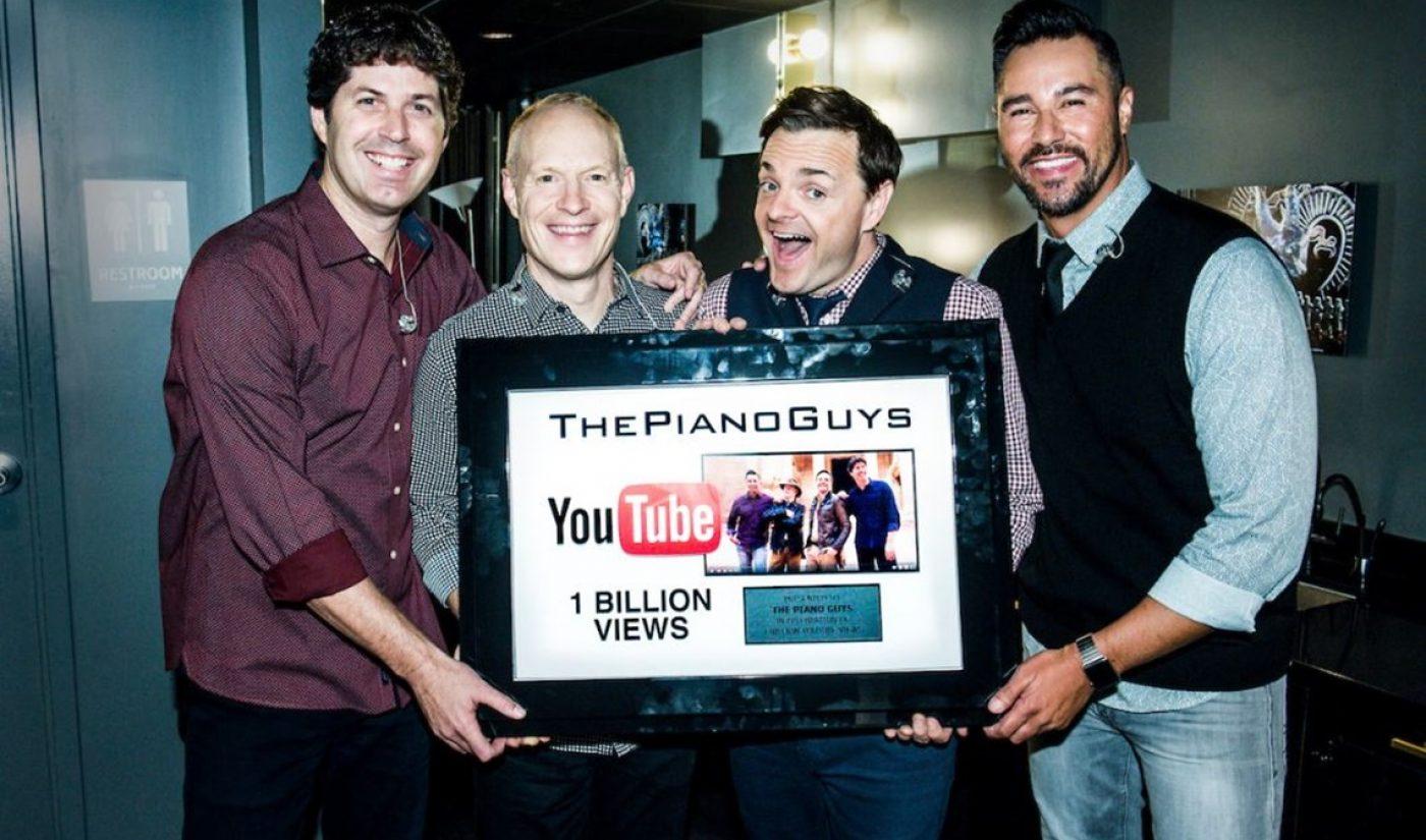 Homegrown YouTube Music Group 'The Piano Guys' Surpasses 1 Billion Lifetime Views