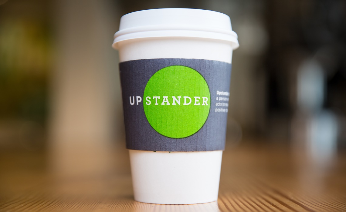 Starbucks Upstanders cups sleeve photographed on Tuesday, September 6, 2016. (Joshua Trujillo, Starbucks)